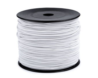 5 m Round rubber rubber cord White 2 mm