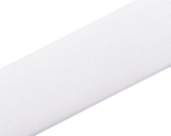 1 m rubber band wide 50 mm White