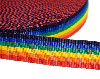 1 m webbing rainbow 30 mm