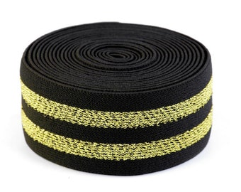 1 m rubber band 40 mm black gold