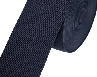 1 m rubber band wide 50 mm navy