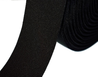 1 m rubber band wide 50 mm black