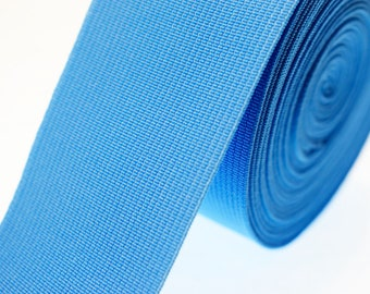 1 m rubber band wide 50 mm sky blue