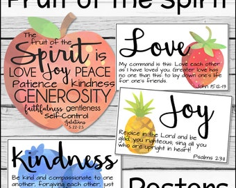 picture regarding Fruit of the Spirit Printable named Fruit of the spirit Etsy