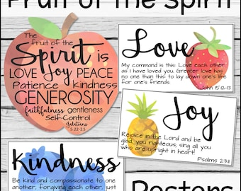 image relating to Printable Fruit of the Spirit named Fruit of the spirit Etsy