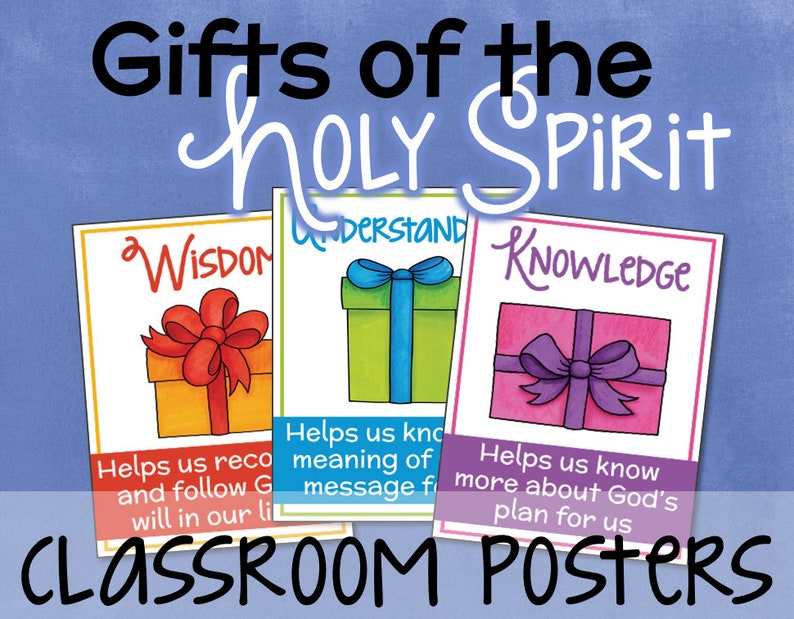 Gifts of the Holy Spirit Posters for Kids INSTANT DOWNLOAD Christian  Catholic School