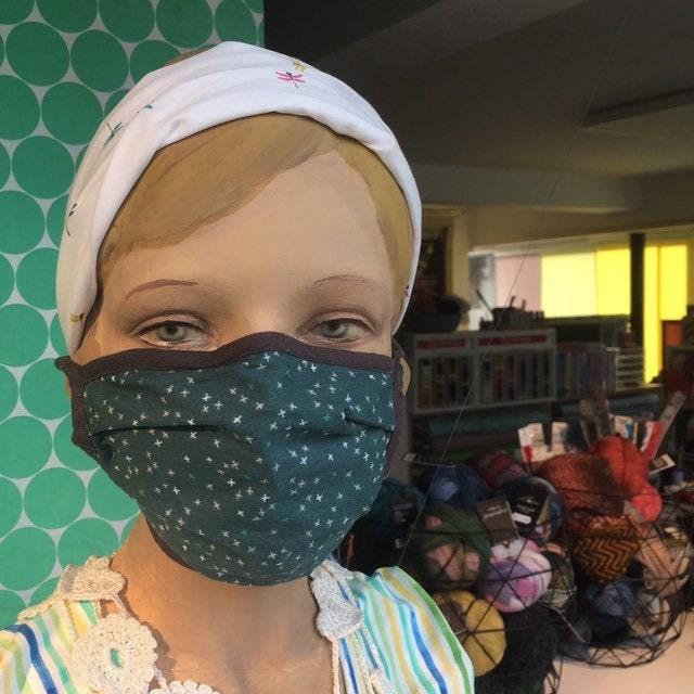 Nasen-Mund-Behelfsmaske Baumwolle 2-lagig mit Bügel