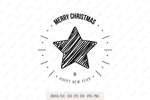 Stern Frohe Weihnachten.Frohe Weihnachten Svg Scribble Stern Wunschen Zeichen Svg Urlaub Clipart Silhouette