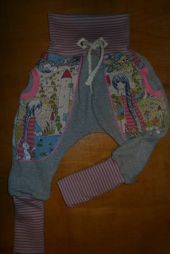 Pumphose 80//86 86 Babyhose Mädchen  Junge Baggy Kinderhose Mitwachshose