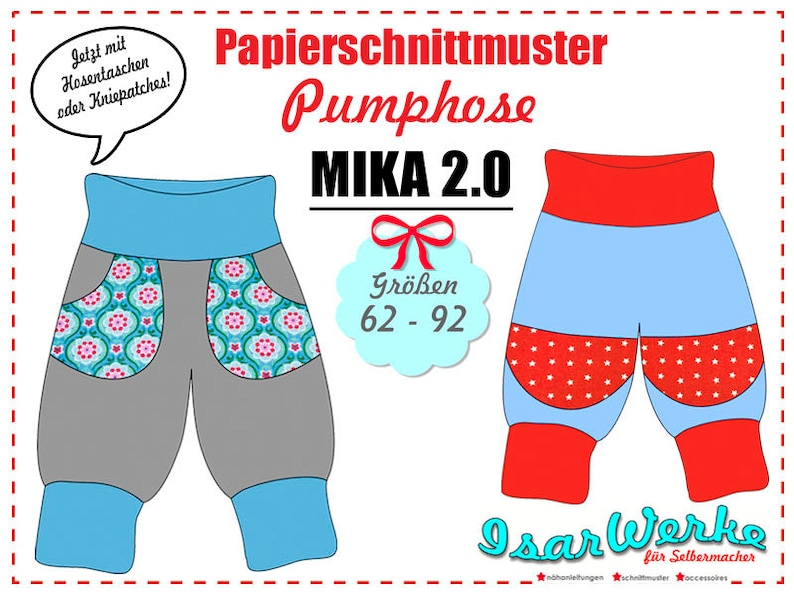 Paper Pattern Pumphose Mika 2.0 image 0