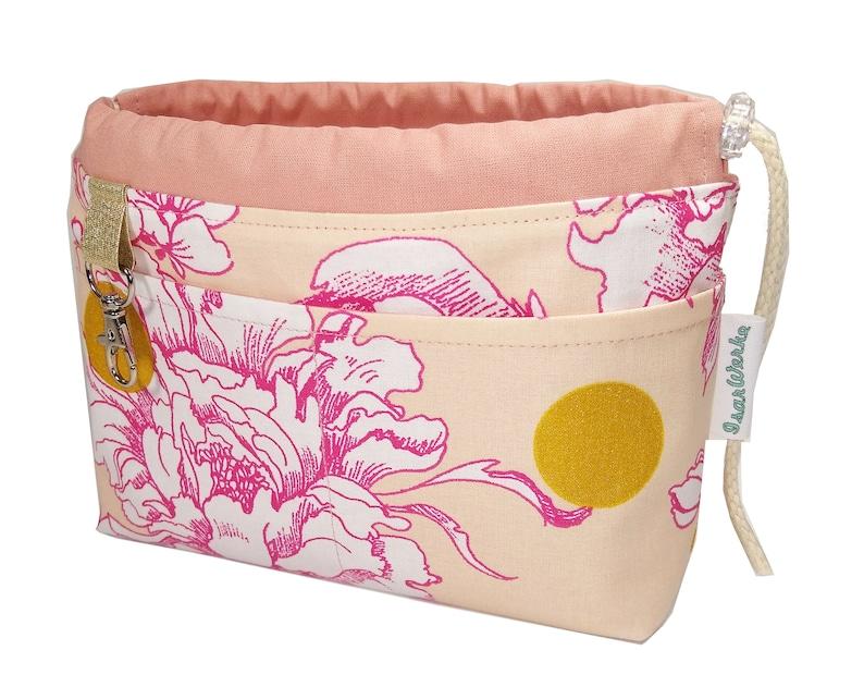 Pocket organizer Dust pink gold cherry blossoms / diaper bag image 0