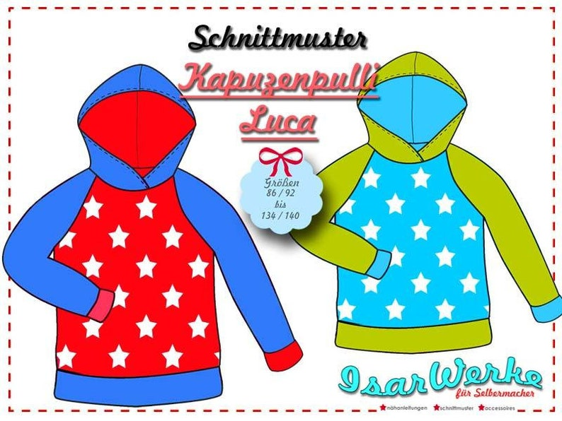 Paper Pattern Hooded Sweater Luca image 0