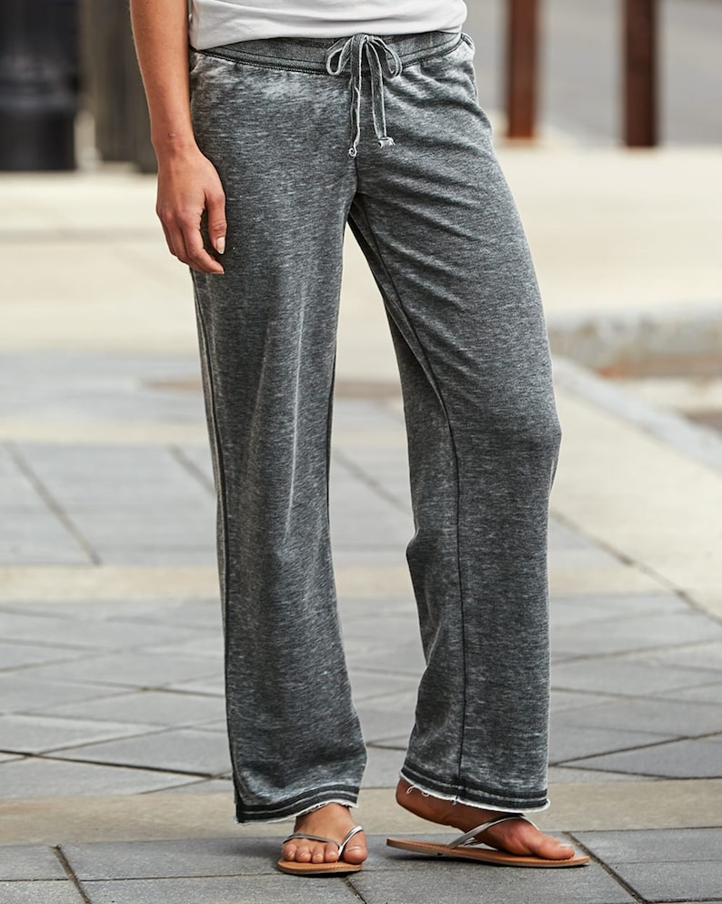 NDSU Bison Lounging Pants Matte or Glitter Dark Grey Ultra Soft Lightweight Burnout Quality Sweats| North Dakota State