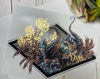 Small Mr. Octopus print