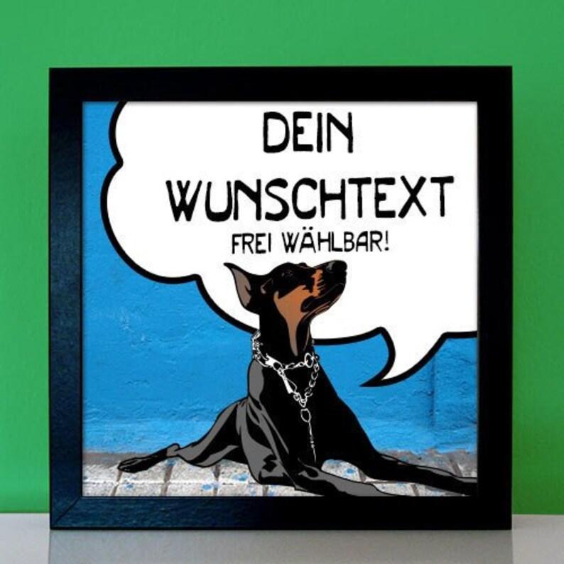 Dobermann Personalisiertes Bild Lustige Spruche Comic Mit Etsy