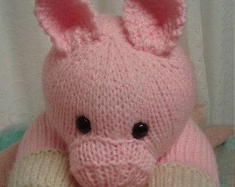 21403deae Pink Pig Handmade Stuffed Animal Toy