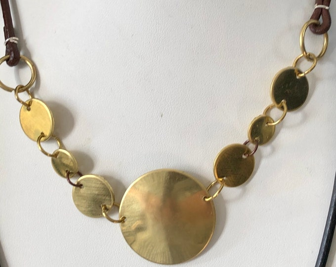 Handmade Recycled Brass Necklace