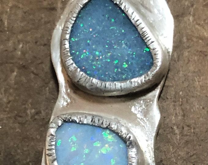 Australian Opal set in silver pendant