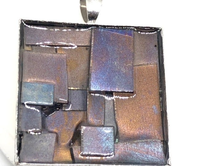 Outback Colours 3 - heat worked titanium pendant