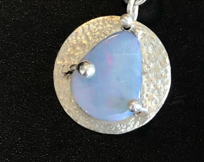 Australian Opal doublet in sterling silver