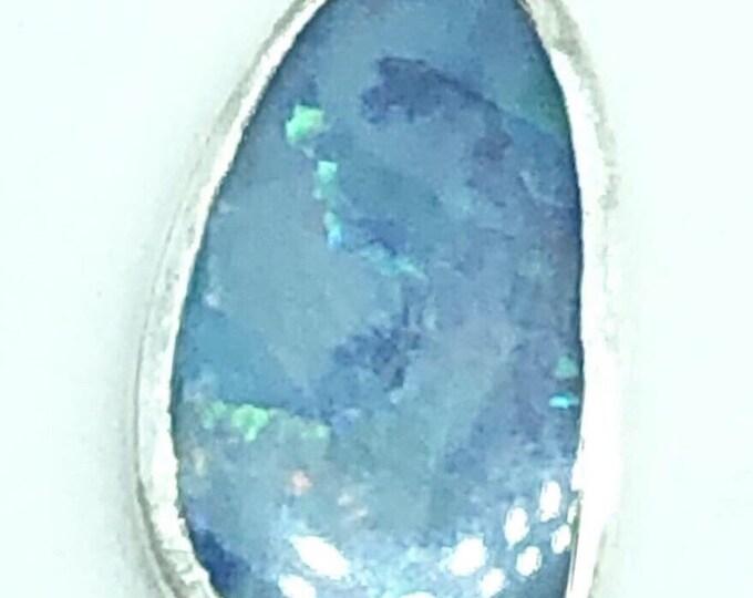 Australian Opal in handmase silver setting