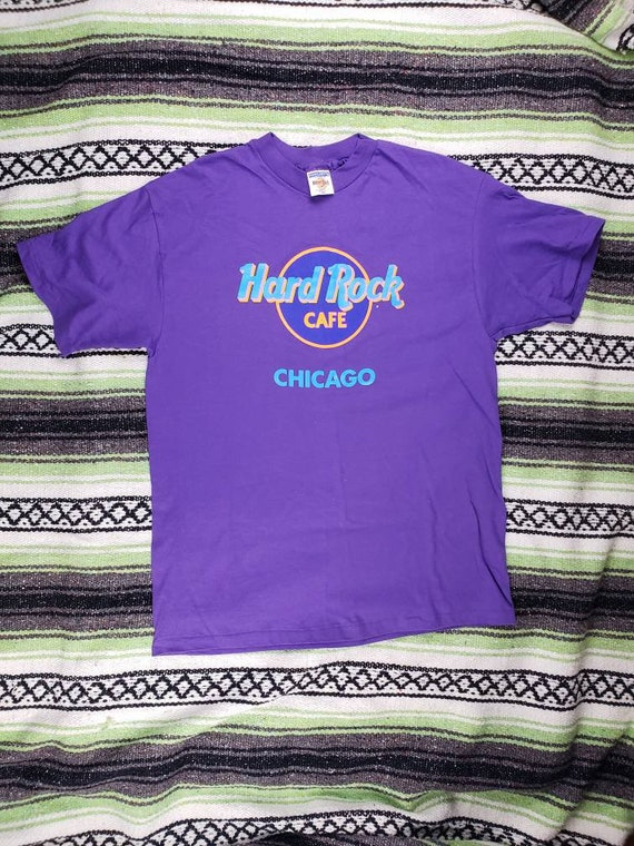 Vintage Hard Rock Cafe Chicago T Shirt Etsy