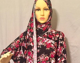 Beautiful Prayer Dress With Attached Hijab Scarf Islamic Etsy