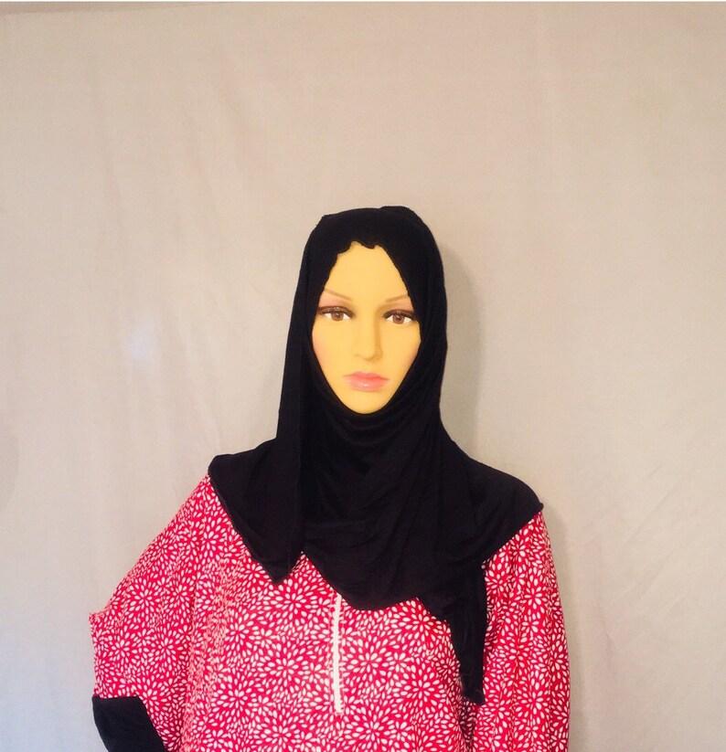 37fd0be302 Abaya dress with attached hijab jilbab kaftan maxi prayer