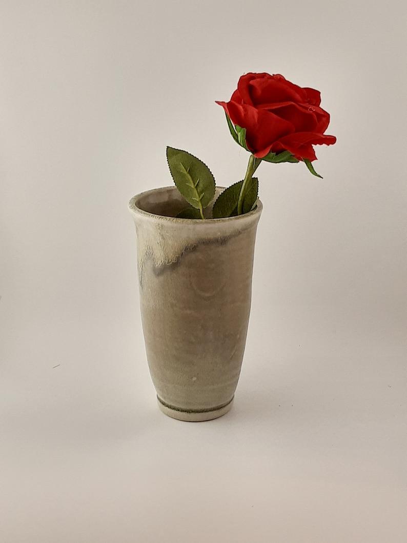 Tall ceramic oribe vase
