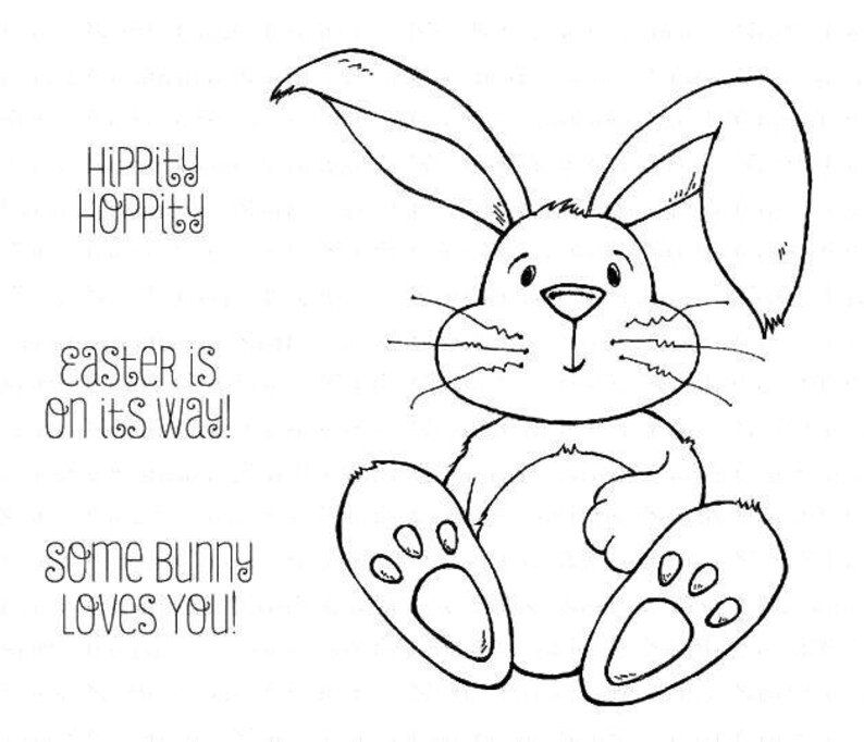 4 Stamp Plates: Easter Bunny-Hippity Hoppity image 0