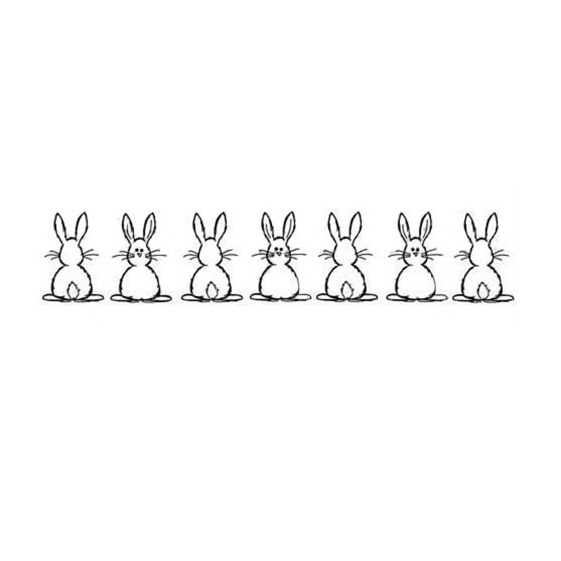 Stamp plate 7 rabbits in a row image 0