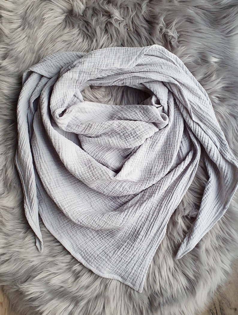 light grey XXL Muslintotuch