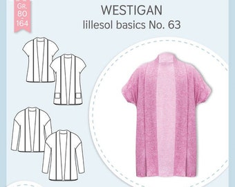 Paper cutting pattern lillesol basics No.63 Westigan children *with video sewing instructions*
