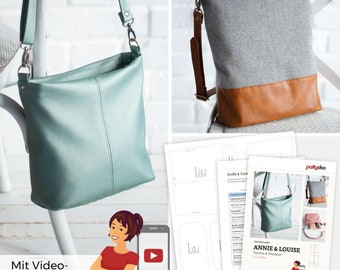 Bag And Shopper Annie and Louise – Paper Pattern By Pattydoo