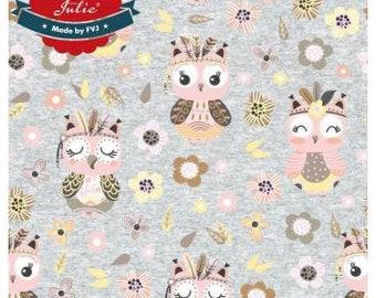Owls Grey, Boho Style, Jersey, Miss by Julie