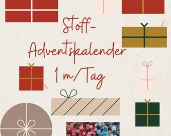 Advent Calendar Fabrics 2021,1 m Fabric/ Day, 24 m, different qualities, pre-order