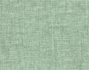 Washed linen, old green, 100% linen