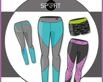 Sporttight Women, Sportleggins – Paper Cutting Pattern by Ki-ba-doo