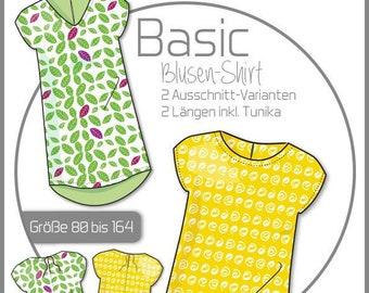 Basic Blouse Shirt Girls - Paper Cut Pattern by Ki-ba.doo