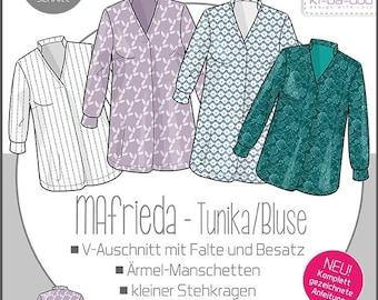 MAfrieda Tunic/Blouse Women – Paper Cut Pattern by Ki-ba-doo
