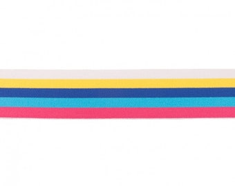 Soft rubber 40 mm striped, various colors - 1 meter