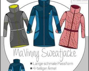 MaVinny Women's Sweat Jacket - Paper Cutting Pattern by Ki-ba-doo