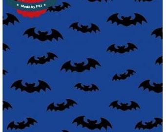 Bats, Bat on Royal Blue, Jersey, Miss of Julie