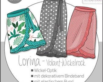 Lorina Fake Wrap Skirt Women ' Paper Cutting Pattern by Ki-ba-doo