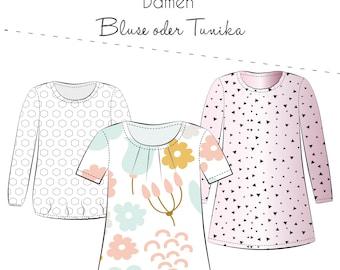 Fennja Blouse Women - Paper Cutting Pattern by Thread Beetle