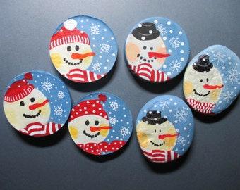 premier bonhomme de neige Lucky Sixpence Charme Cadeau Personnalisé Boite Cadeau de Noël 1st