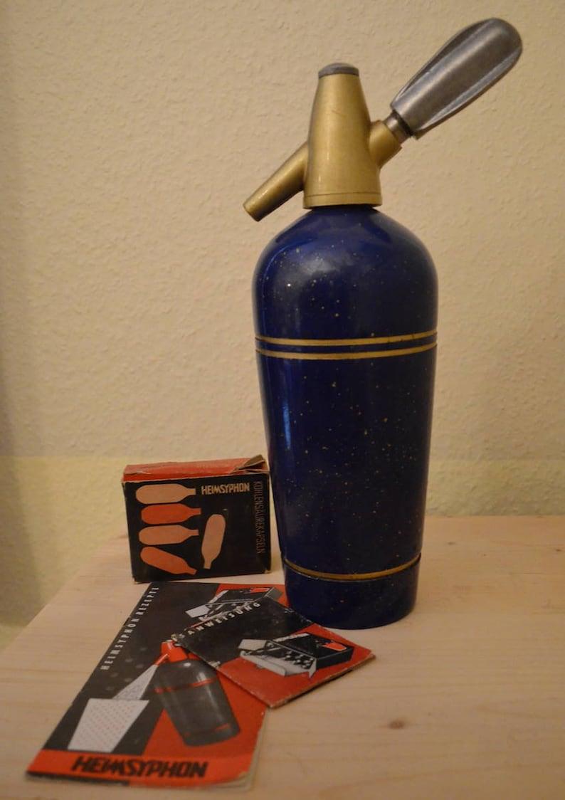 Siphon Home Siphon Soda Rockabilly cobalt blue image 0