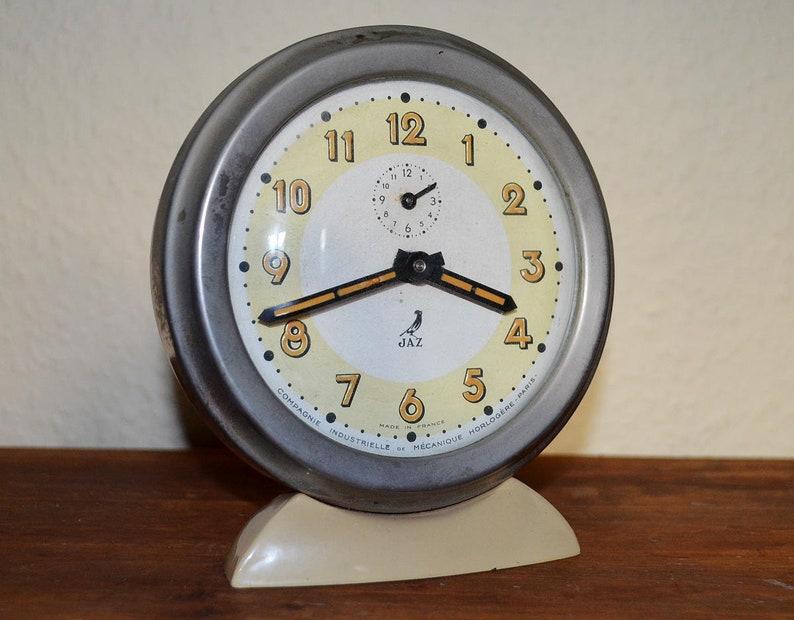 JAZ Alarm Clock  Art Deco  Made in France image 0
