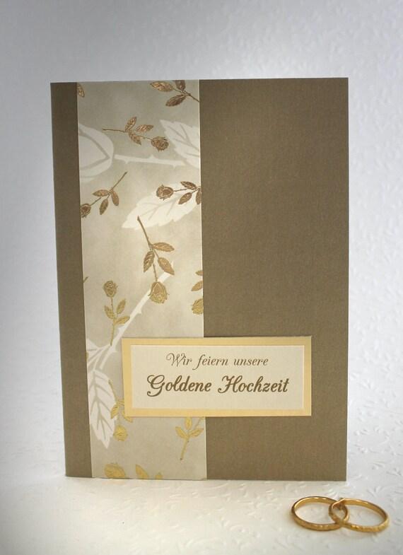 Einladung Zur Goldenen Hochzeit 96001 Perlmutt