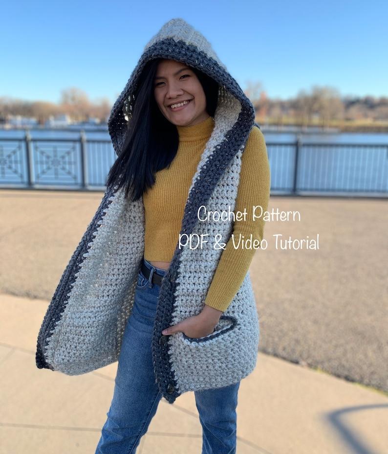 Crochet Sweater Vest Pattern  Pdf digital download and video image 0